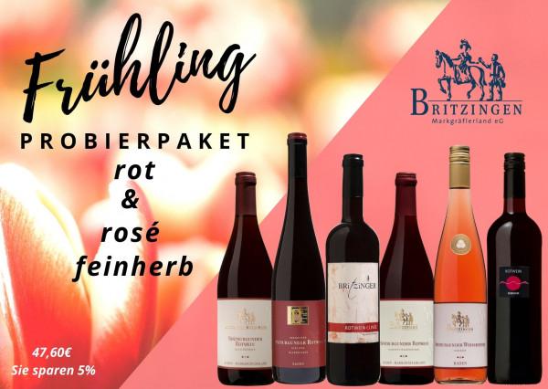 Probierpaket Frühling rot + rosé feinherb